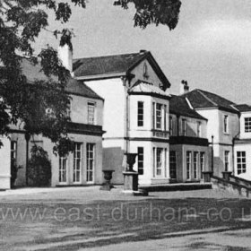 Seaham Hall Hospital in the 1950s. Loaned to the military from 1915 until 1919 as a hospital, eventually in 1927 it was donated by the Londonderry family to Durham County Council for use as a Sanatorium for women and children, opening in 1928.  It closed as a hospital in 1978 to become first a hotel and then in 1988 a nursing home until 1995. Now a world class hotel.