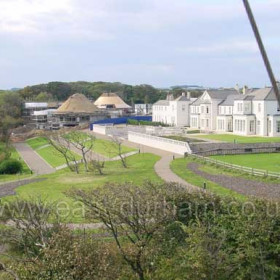 Seaham Hall Hotel, showing the construction of the Serenity Spa in 2002. Photographed from the tower of St Mary's Church. Bought by Tom Maxfield in 1997 Seaham Hall has been transformed into a truly magnificent hotel of international standing. Well worth a visit if only for a coffee.