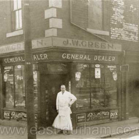 James William Green had this grocery shop at 54 Adolphus St in 1925 and also by 1938 a tobacconists in Church Street.