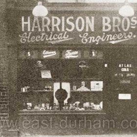 Harrison Bros tiny electrical shop,opened early 1920's, next to the Empire Theatre, bought by Jack Calvert in 1938.