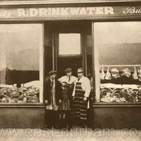 R Drinkwater, butcher, 8 South Terrace P  c 1921 he also had a butcher shop at 5 Rutherford Buildings from sometime between 1910 and 1914 until c 1930