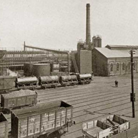 Coke Ovens and Bye-Product Plant, Shotton c1929.   Photograph from Bob Williams