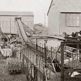 Coke Cutting and Screening Plant, Shotton c1929.   Photograph from Bob Williams