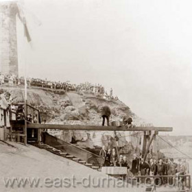A huge crowd gathered to watch the laying of the foundation stone for the new South Dock on 26/8/1899 by Viscount Castlereagh and Michael Hicks-Beach, Chancellor of the exchequer and numerous other dignitaries.After the ceremony everyone moved to the site of the new Dawdon Colliery where the sods were cut for the two shafts.