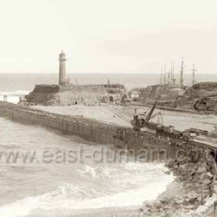 Building new north pier c 1900.