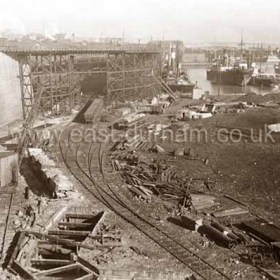 Castlereagh Extensions to South Dock in 1923.