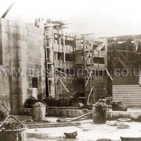 Dock entrance under construction during building of new South Dock on 27th July 1904.