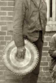 T TAYLOR, tradesman at Seaham Colliery. Photograph 1890.