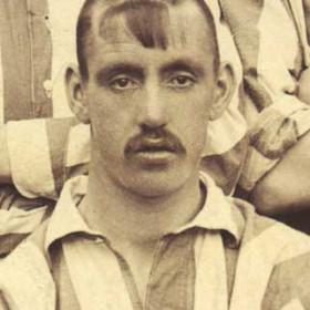 D TEMPLETON, player with Seaham Villa Association Football Club. Photograph 1899