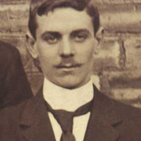 J THOMPSON , committee member with Seaham Villa Association Football Club. Photograph 1899