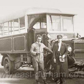 Hall Brother's ' Invincible ' buses were the first to run between Seaham and Murton via Station Rd. Begun in 1922 they were taken over by Northern in April 1925.