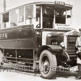 Northern bus, Seaham Harbour to Murton Colliery in the late 1920's. Pictured at the Castlereagh Terminus.