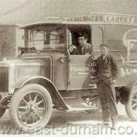 Seaham and District Laundry van outside laundry on the Mill Bank in the 1920's