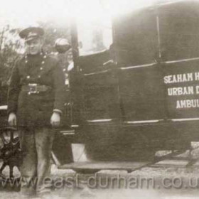 Seaham Harbour Urban District Ambulance.I have no information on this picture, date?