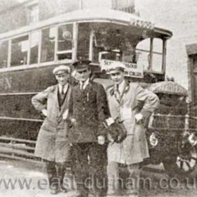 Seaham to Murton bus in the mid 1920's.