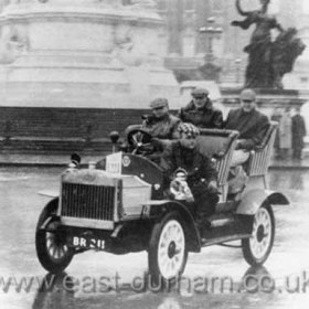 Seaham Harbour Engineworks car (SHEW), built 1907, photographed in London for the London-Brighton Rally in the 1960s.