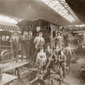 Another unplaced railway photograph. Original photograph had Seaham handwritten on back but it almost certainly is not.Gateshead is the most popular suggestion.