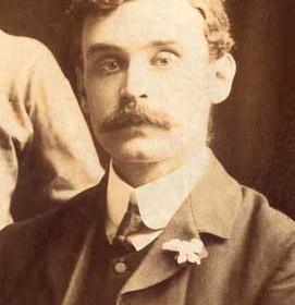 T E Venner, secretary & trainer for New Seaham Boys 1908-09. Photograph 1909