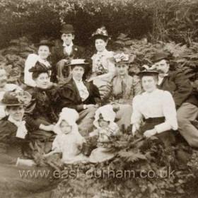 Group in Castle Eden Dene c1900