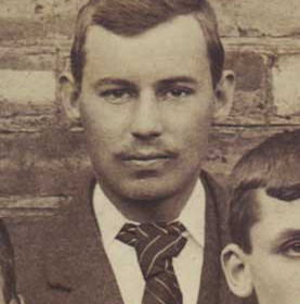W Wallage, treasurer with Seaham Villa AFC. Photograph 1899