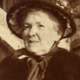 Mrs Young, wife of George Young, Londonderry Agent, lived Seaview Villas late 1800s Photograph from William Kirby